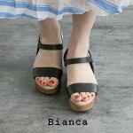 【2020SS】Bianca×MMN【別注アイテム】ビアンカゴムベルトウェッジサンダル8156【RCP】