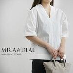 【2020SS】MICA&DEALマイカアンドディールリボンスリーブVネックプルオーバーM20B091SH【RCP】