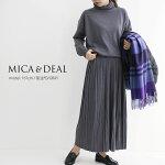 【2020AW】MICA&DEALマイカアンドディールランダムプリーツニットワンピース0120404248【RCP】