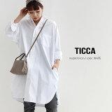 【10%★OFF】【2021SS】TICCA ティッカ スクエアチュニックシャツ TBAS-105/TBAS-128【RCP】SS