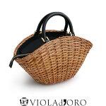 【2018SS】【送料無料】VIOLAd'OROヴィオラドーロ2wayバスケット型バッグV-8178【RCP】カゴバッグ