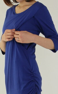 授乳服【楽天授乳服ランキング1位獲得】CARINO-DTやわらか長め丈《授乳服チュニック七分袖モーハウス》