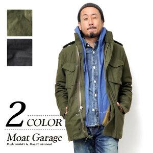 《 16日23:59迄 ポイント10倍 》M65 ジャケット メンズ   M-65 フィールドジャケット 大きいサイズ アウター ジャケット モッズコート ミリタリージャケット ブルゾン ライナー 暖かい フード カーキ オリーブ ブラック S M L