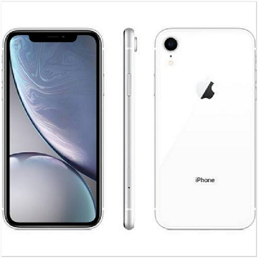 iPhone XR 128GB 本体 SIMフリー 新品未開封 1年保証 White ホワイト アップル MT0J2J/A A2106 ...