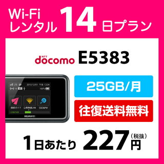 DocomoPocketWiFiE5383(25GB/月)