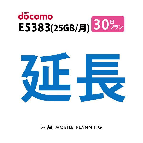 E5383(25GB/月) 30日延長専用 wifiレンタル 延長申込 専用ページ 国内wifi 30日プラン