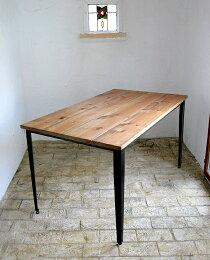 ダイニングテーブルダイニングセット木製カントリーダイニングチェアホテルリビング天板無垢北欧カフェナチュラルモダンダイニングテーブル(単品)ラスティックアイアンアイアンダイニングテーブル(棚板なし)1600×9000220-dt-RI-105-160