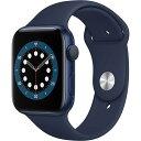 Apple Watch Series 6 GPSモデル 44mm M00J3J/A ブルー [ディープネイビースポーツバンド]【新品未開封】