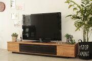 北欧風モダンロータイプ140センチ幅TVボードミラーナチュラル国産品ローボードヴィンテージレトロテレビボードテレビ台収納