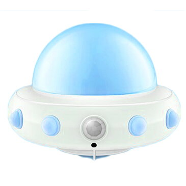 UFO ナイトライト 枕元 LED ライト 間接照明 子供部屋 ベッドサイド ランプ 授乳 寝室 常夜灯 リモコン操作 マグネット内蔵 USB充電式 5段階調光 ◇DEL-WH-L0506【定形外郵便】