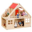 【ままごと】【 女の子】BorneLund(ボーネルンド)社 マイドールハウスセット(人形・家具付き) 木のおもちゃ ままごと お誕生日 2歳:女 【c】【】