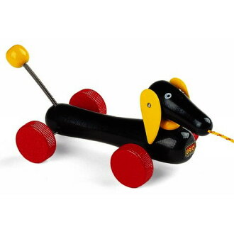 Wooden toys Brio /BRIO Perth & push toy Dachshund 1 years old: 1-year-old man: woman