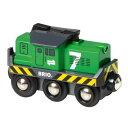 【木のおもちゃ】ブリオ BRIO 汽車 バッテリーパワー貨物輸送エンジン 木のおもちゃ
