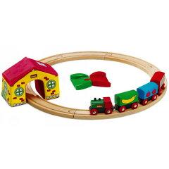 木のおもちゃ ぼくの最初のBRIOレールウェイ出産祝い,お誕生日祝いにおすすめ木のおもちゃ ブ...