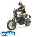 【定形外郵便OK】【ミニカー バイク 1/16 】ドイツ Bruder ブルーダー【正規輸入品】 Ducati スクランブラーデザートスレッド【kd】