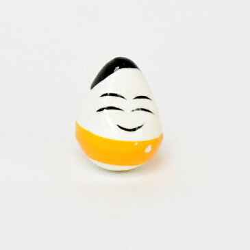 【メール便OK】木のおもちゃコモック 復興支援 起き上がり小法師 黄(起き上がりこぼし)福島県会津名産【おうち時間 子供】