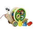 【木のおもちゃ】 Hape ハペ社 ウォークアロングスネイル お誕生日 1歳【P】