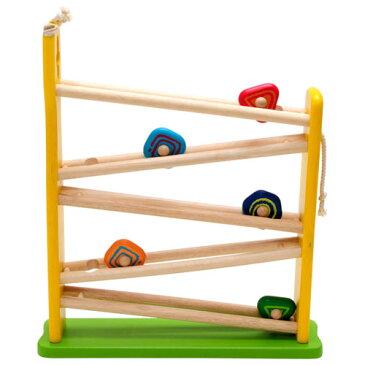 【木のおもちゃ スロープ】アイムトイ 知育玩具 キリンスロープ お誕生日 1歳 男 女【Y】