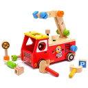 【木のおもちゃ 知育玩具】 型はめ I'm TOY アイムトイ アクティブ消防車 出産祝い 木の玩具 お誕生日 2歳:男【P】