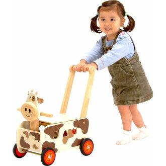 【木のおもちゃ】【出産祝い手押し車乗用玩具知育玩具】アイムトイウォーカー&ライドカウ誕生日1歳クリスマスプレゼントギフト