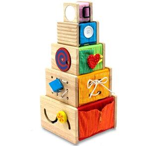 知育の塔だーっ【アイムトイ 木のおもちゃ 型はめ 知育玩具 出産祝い お誕生日 人気 ギフ...