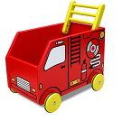 木のおもちゃI'mTOYアイムトイ子供家具/おもちゃ箱/手押し車おかたづけ消防車