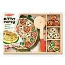 日本正規品 ままごとセット 木製 Melissa & Doug メリッサ&ダグ ピザパーティー 3歳 食材 おうち時間 子供 2
