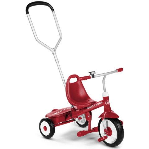 【RADIOFLYER】 ラジオフライヤー ステア&ストロールトライク(ステップ付き)#451A 三輪車 乗用玩具 お誕生日 2歳:男 お誕生日 2歳:女【kd】