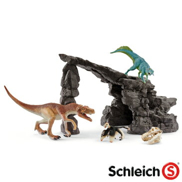 【おまけ付き オリジナルシール】schleich シュライヒ 恐竜 フィギュア 恐竜たちの洞窟プレイセット【023118】【ごっこ遊び】【kd】