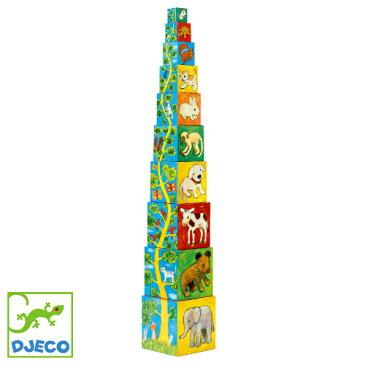 【知育玩具 スタッキング】DJECO ジェコ 10 マイフレンド ブロックス ブロック遊び お誕生日 1歳【節句 入園 卒園 入学】【P】
