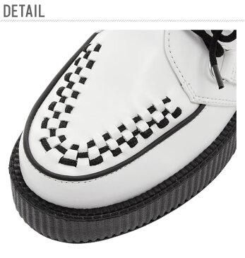 TUK ラバーソール 楽天 パンク スニーカー メンズ TUK 厚底 ロカビリー パンク ロック 本革 ホワイト レディース ユニセックス T.U.K. 靴 くつ クツ おしゃれ シューズ VIVA MONDO CREEPER White Leather