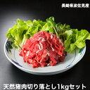 猪肉切り落とし1kgセット(500gパック×2袋) 長崎県産天然イノシシ肉