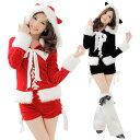 サンタ コスプレ レディース コスチューム 衣装 仮装 長袖 トップス ショートパンツ レッグウォー ...