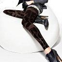 【イタリア レギンス インポート ブランド】MISS OROBLU SPARKLE ラメプリントデニムレギンス ブラウン グレー【あす楽対応】【コンビニ受取対応商品】