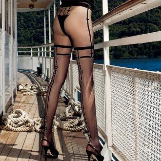 TRASPARENZE BUCKLE garter pantyhose