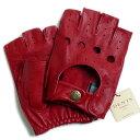 デンツ【送料無料】DENTS カットオフ ドライビング グローブ 5-1009 Berry(レッド)メンズ 手袋 半指指なし メンズ 1