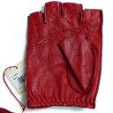 デンツ【送料無料】DENTS カットオフ ドライビング グローブ 5-1009 Berry(レッド)メンズ 手袋 半指指なし メンズ 2