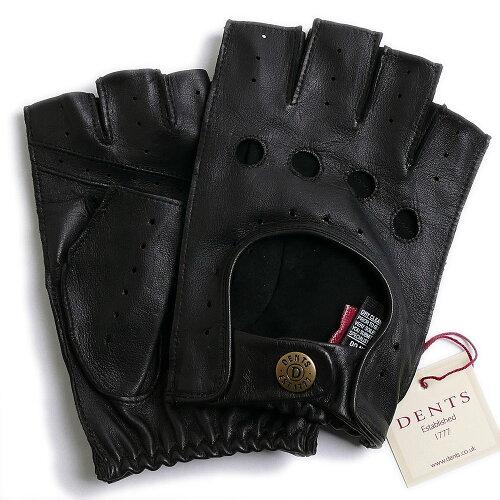 DENTSデンツ カットオフ ドライビング グローブ 5-1009 BLACKメンズ 手袋 半指指なし ...