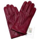 【イタリア製】MEROLAメローラシルクニット裏地ラムナッパグローブ(ボルドー)手袋メンズ冬防寒手袋
