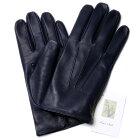【イタリア製】MEROLAメローラシルクニット裏地ラムナッパグローブ(ダークネイビー)手袋メンズ冬防寒手袋