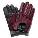 メローラ ドライビンググローブ ZU15bis(ボルドー/ネイビー)ラムナッパ【イタリア製】MEROLA 手袋 メンズ【手ぶくろ 男性用 】