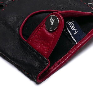 【イタリア製】MEROLAメローラカットオフドライビンググローブU93(ラムナッパ)レッド×ブラック【楽ギフ_包装】手袋