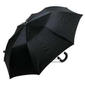 MagliaFrancescoイタリア製イントレチャートレザーハンドル折りたたみ紳士傘(ブラック)マリアフランチェスコメンズ
