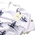 2017SSモンクレールMONCLERトロピカル刺繍Tシャツ(8035151*001ホワイト)メンズ【トップスTシャツ半袖誕生日プレゼント】