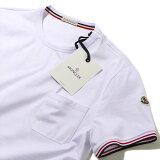 モンクレール2019SS ポケット付きTシャツ80198 001ホワイト メンズ【トップス Tシャツ 半袖 おしゃれ 夏服 メンズ】MONCLER