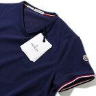 2017SSモンクレールMONCLERストレッチコットンVネックTシャツ(783ネイビー)メンズ【トップスTシャツ半袖無地誕生日プレゼント】