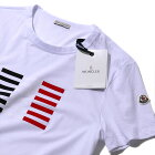 2017SSモンクレールMONCLER【イタリア製】ライン転写Tシャツ(001ホワイト)メンズ【トップスTシャツ半袖誕生日プレゼント】