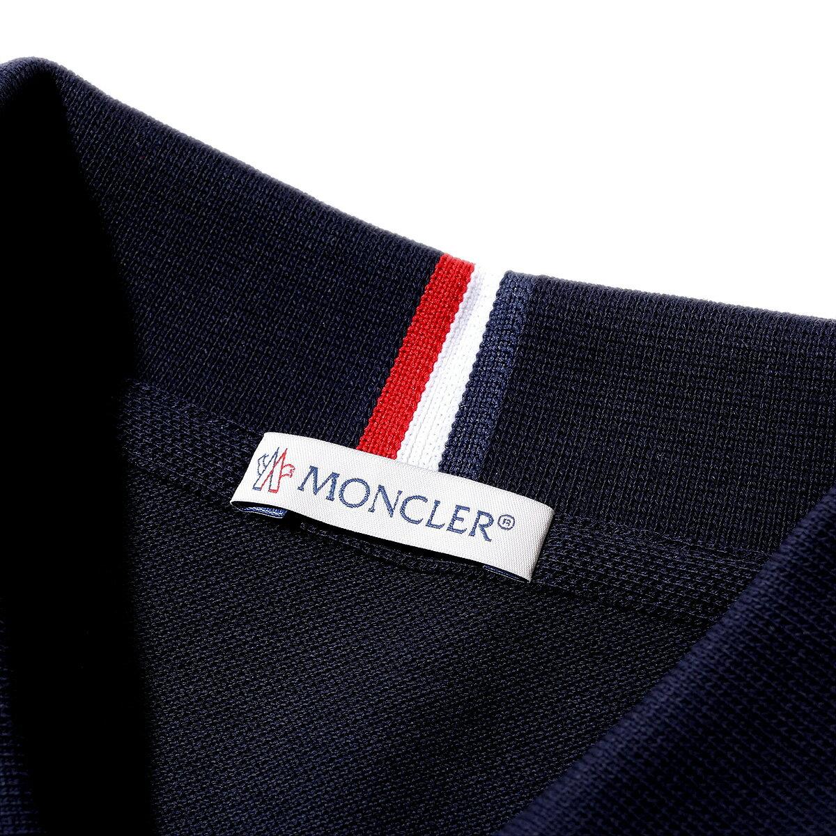 モンクレール2018AW  鹿の子 ポロシャツ83062 773ネイビー メンズ【トップス ポロシャツ 半袖 クールビズ おしゃれ  メンズ 】MONCLER