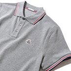 モンクレール 2018 鹿の子 ポロシャツ83456 984グレー メンズ MONCLER 【トップス ポロシャツ 半袖 クールビズ おしゃれ メンズ 】