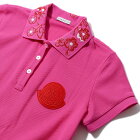 モンクレール鹿の子刺繍襟ポロシャツ8386050522ピンクレディースMONCLER